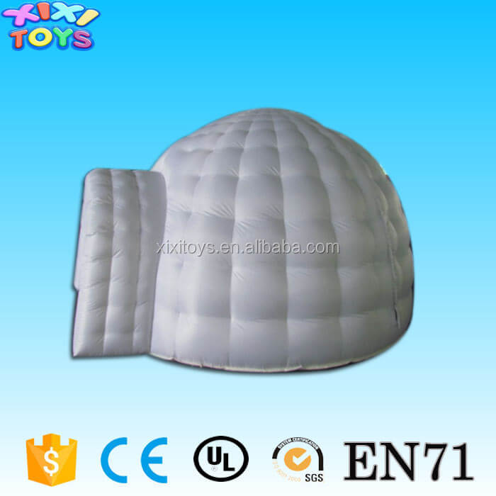 Small inflatable White Dome Tent / Cheap Oxford Fabric Inflatable Igloo Tent