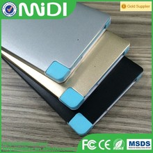 built-in cable 6000mah Credit card power bank 6000mah Metal case power bank for samsung galaxy