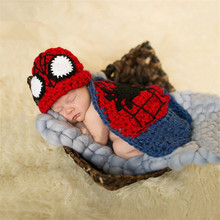 wonderful superman design handmade knitted set newborn baby photography props
