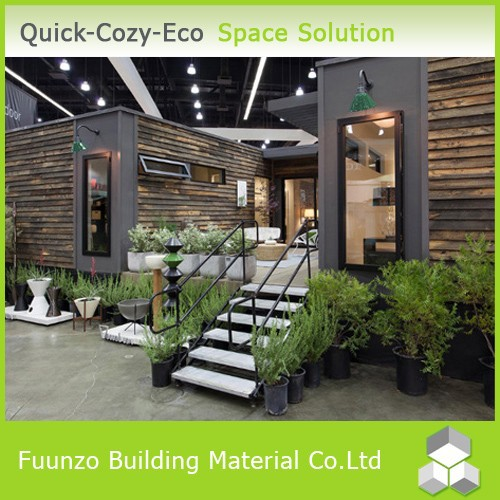 Fireproof Plastic Timber Decoration Prefabricated Container Home