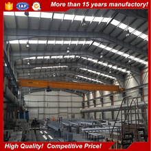 Lightweight prefabricated steel structure frame fabrication for manufacturing plant construction