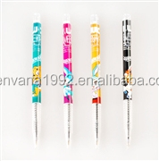 K-3082B Popular Chinese cartoon promotional plastic retractable ball pen