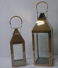 Glass Storm candle Lanterns, Stainless steel candle Lanterns