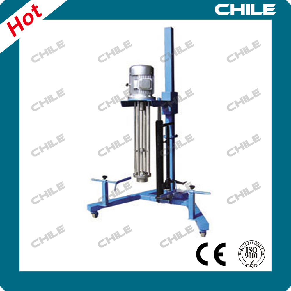 Pneumatic lifting high-shear small lab emulsifier for liquid