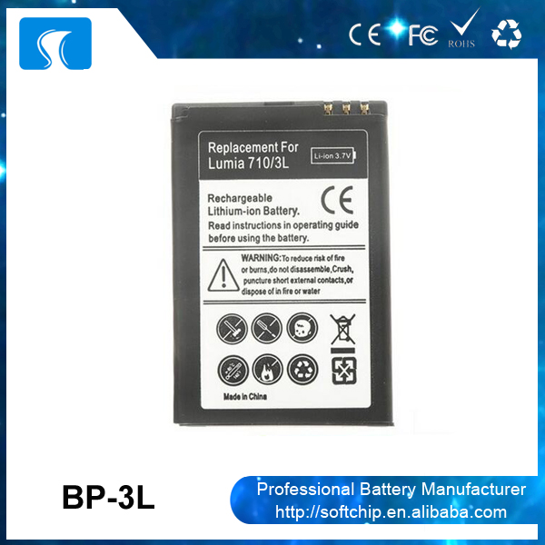 3.7V 1300mAh battery BP-3L for Nokia Lumia 510 610 710 N710