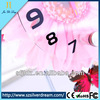 Cartoon beautiful alarm clock pink color flower desk clock