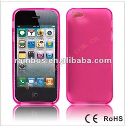 Soft jelly case, candy color cover case for Apple iPhone 5