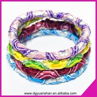 Hot sale twisted elastic hair band spiral hair tie