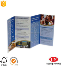 cheap tri-folded brochure with high quality full color printing used for product promotion pre-fold before shippment