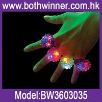 Led light up finger ring toy LAfq plastic led flashing toy for sale