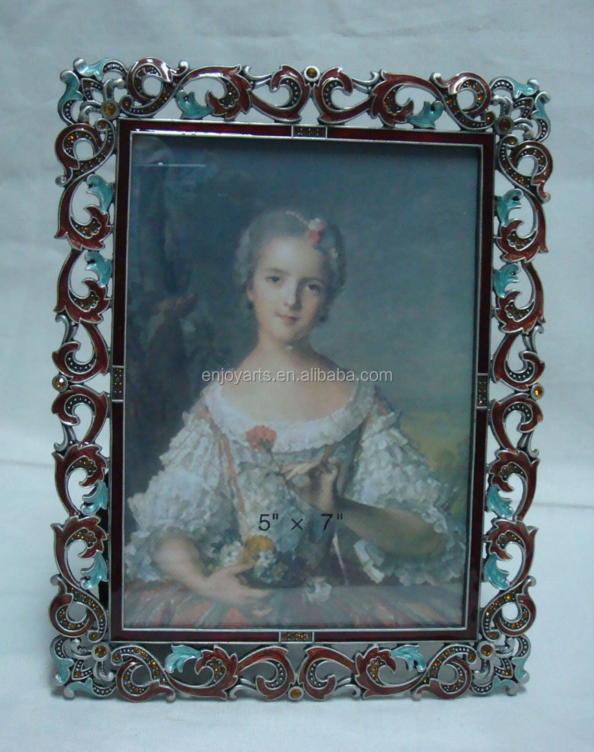 Crystals Jeweled Classica Matel Photo Frame( P0100557b )