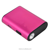 5V 1A high quality aluminium case rohs powerbank 5200mah with flash light