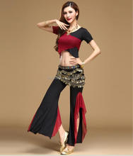 Profession belly dance pant set fusion mixed colors belly dancing wears