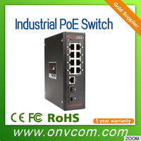 Manufacturer Industrial gigabit Managed Ethernet Switche with 8 ports
