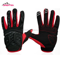 Black bicycle Cycling gloves motorbike gloves motor cross Off road gloves