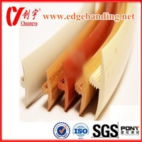 T types edge banding pvc profiles for office furniture
