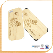 Bamboo Wood Phone Case For iphone and Samsung S5 wooden cases for cellphone/mobile phone