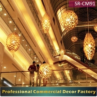 Customize commercial shopping mall hotel Christmas holiday lighting ball decoration for Christmas