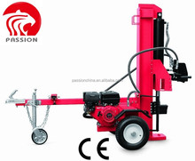 Hot selling Automatic 7hp 27ton gasoline log splitter, Gasoline 35T/40T engine wood cutter