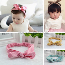 Manufacture Celebrate Fabric Material of kids Type Bowor style Hair Band