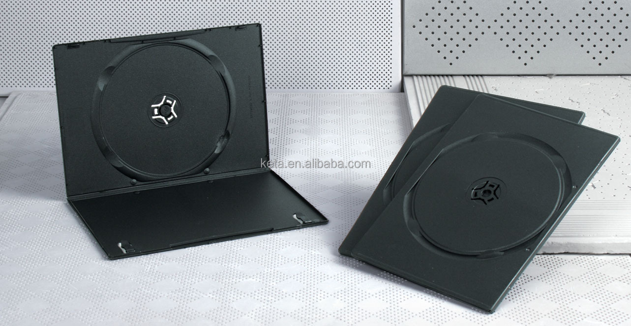 5.2mm Super Slim Single Black Plastic Long DVD Case