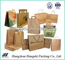 Paper Bag with handle shopping bag green and environmental bag for cloth