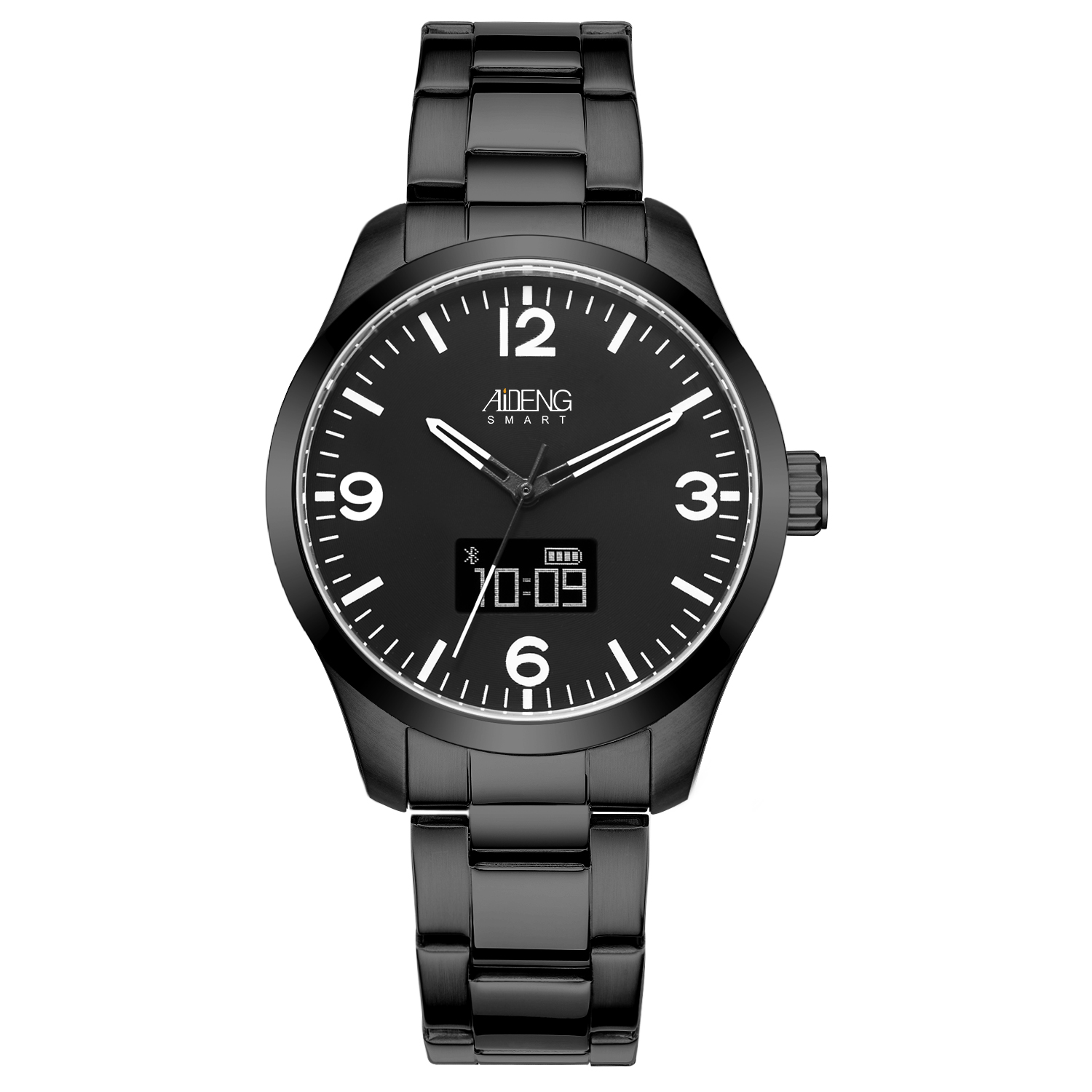 Smart watch 알림 function stainless steel case watch