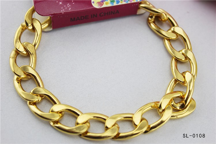 Simple style luxury appearance vogue of new fund of men's and women's general golden bracelet