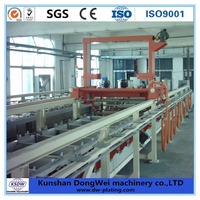Automatic barrel metal finishing plating line