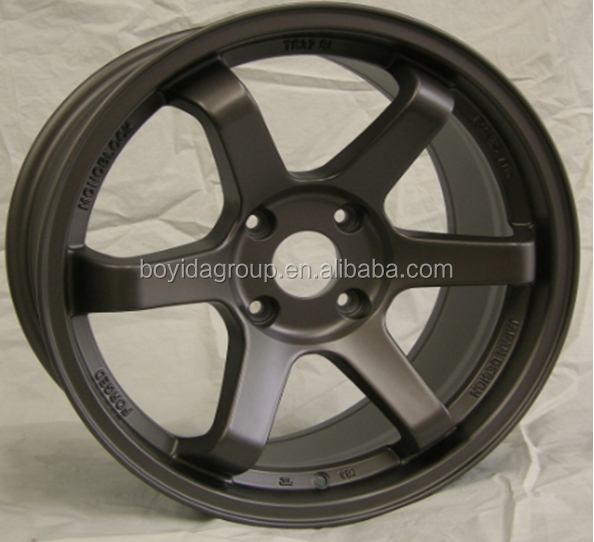 Hot selling new design car alloy wheel TE37
