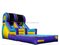 Wet/water slide with pool for sale ,inflatable wet/dry slide for kids and adults