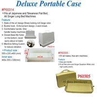 Portable case for sewing machine
