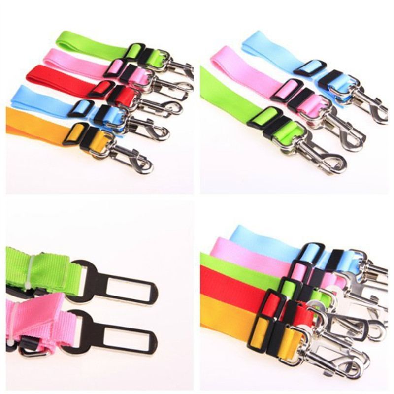 7 Colors Cat Dog Car Safety Seat Belt Harness Adjustable Pet Puppy Pup Hound Vehicle Seatbelt Lead Leash for Dogs
