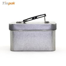 plain mini blank tin lunch box with handle