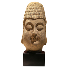 Custom Large Antique Resin Laughing Buddha Statue Head Molds For Sale Stone Indian Rustic Home Decor Piece Factory