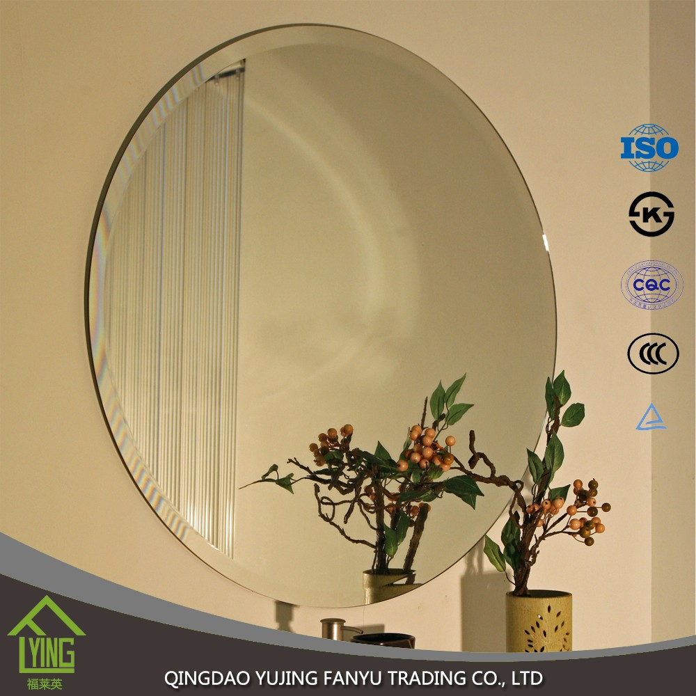 manufacturing 1.8mm-6mm thick silver mirror with light for bathroom