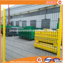 White PVC Coated welded wire mesh fencing for boundary wall poland fence