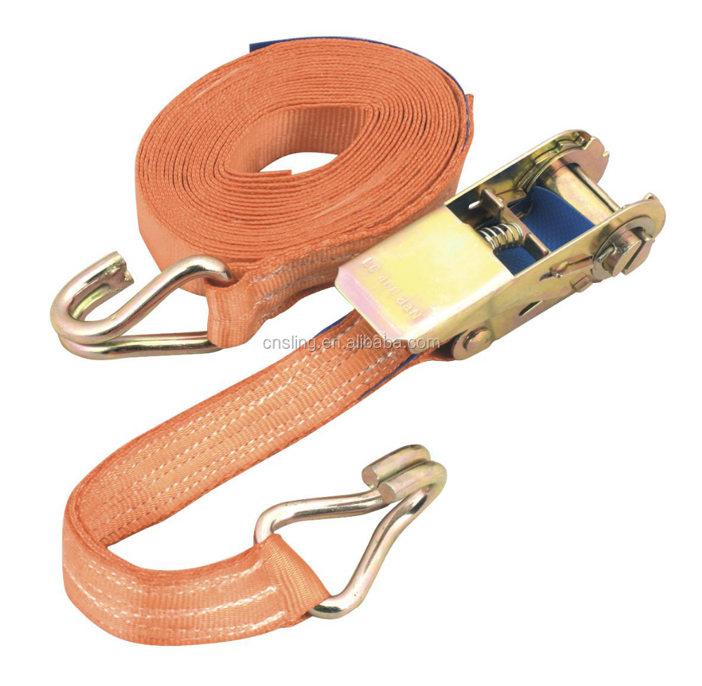 ISO / CE approved cargo lashing tie down ratchet strap/truck/Motorcycle ratchet straps