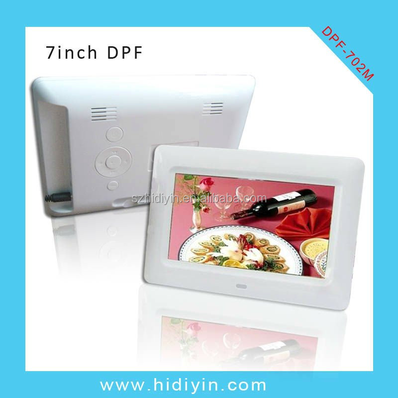 "USB/SD/Android/WIFI/Motion Sensor 7"" digital photo frame with smooth shell,rahmen for picture"