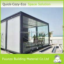 Prefabricated Modular Glass House with Window and Door