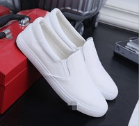 cy30737a 2018 new design slip-on blank white canvas shoes wholesale men fashion casual men shoes