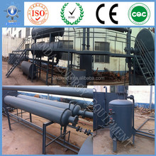 Hot selling pollution free 20 tons capacity auto discharging style waste plastic / rubber oil pyrolysis line