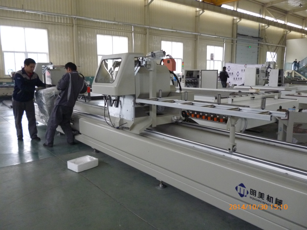 FACTORY 10% DISCOUNTE!! PVC&aluminum window machine / Doube head cutting saw LJZ2-450*3700 with CE
