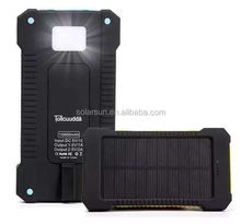 Retailed package 5000mah 14400mah solar power bank for huawei and samsung