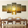 Top selling 5 pieces painting sets free combine canvas wall art