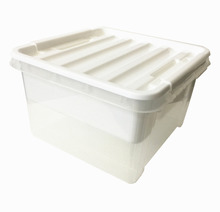 Multi-functional clear color plastic storage boxes with tray