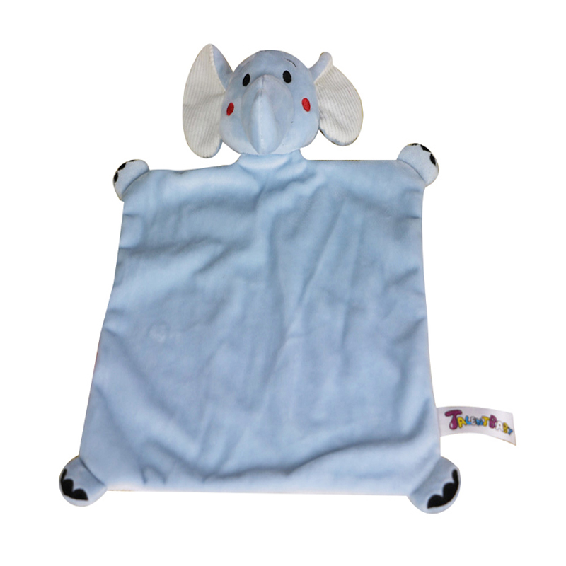 High quality soft baby blue elephant blanket toy