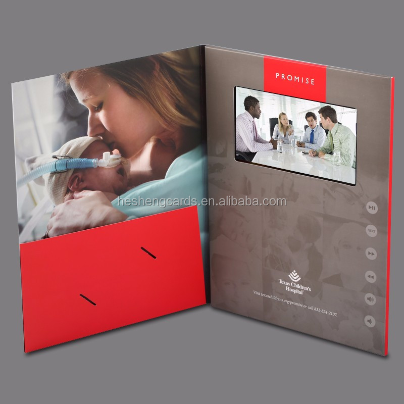 Custom design Ideal 3d birthday video greeting card,video brochure for new product promtion,luxurious wedding invitation card