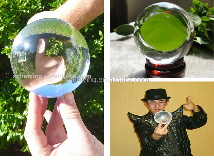 Good optical clarity clear Acrylic ball