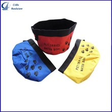 Portable Travel Folding Oxford Pet Dog Cat Water Food Feeding Bag Bowl